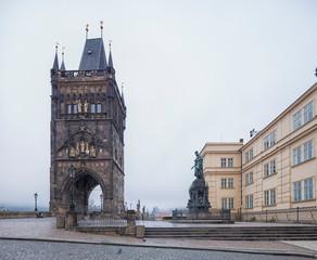 Wall Mural - Old Town Bridge Tower of Charles Bridge in Prague, Czech Republic.