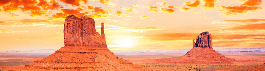 Aluminium Prints Orange Glow Monument Valley