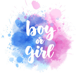 Boy or girl - gender reveal