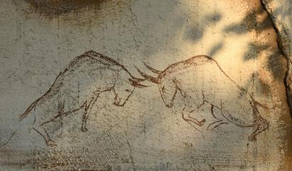 "The Rock Painting ""Bullfight"""