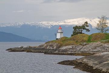 Leuchtturm am Sognefjord