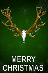 Merry Christmas funny gag Deer trophy cartoon gift ugly sweater