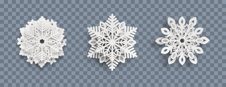Abstract Snowflakes Header Transparent