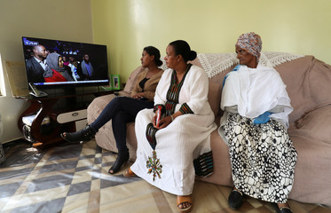Yerusalem Kawiso, a government employee who lost a brother, brother in law and a great uncle to Sidama struggle, sits in her house after voting for the Sidama autonomy during the referendum vote in Hawassa