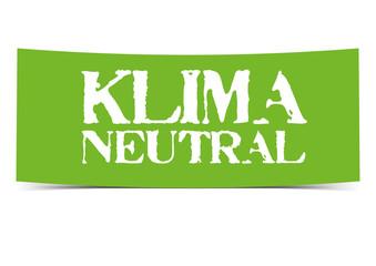 Klimaneutral Banner Button