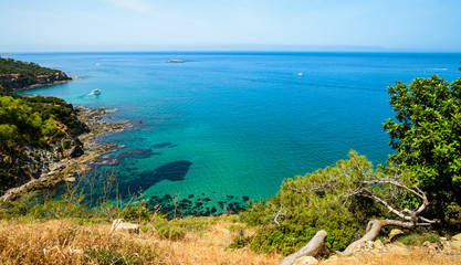 Photo sur Aluminium Chypre famous blue lagoon place, Cyprus Akamas Peninsula National Park