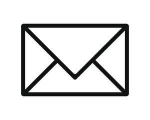 Mail post envelope icon shape. Postage logo symbol. e-mail communication sign button. Vector illustration image. Isolated on white background.