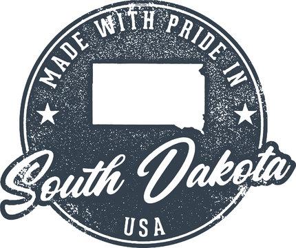 Made in South Dakota State Packaging Label
