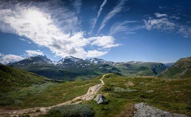 Mountain panorama of touristic destination Sognefjellet Norway