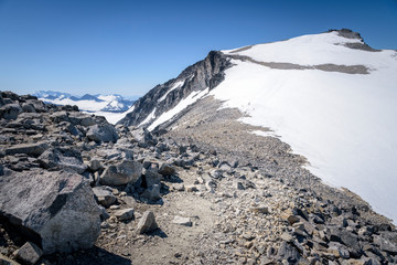 All climbers go for the summit of Norwegian tallest mountain Galdhopiggen