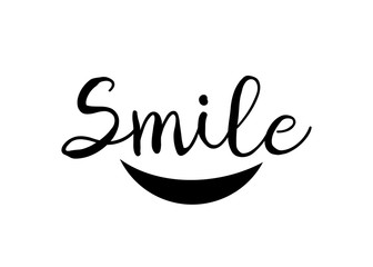 Smile logo design template vector. Happy smile vector logotype