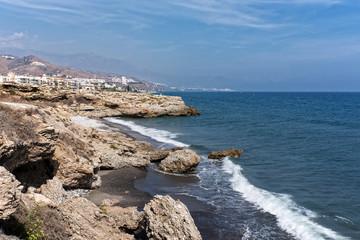 Küste bei Torrox Costa in Andalusien