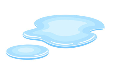 Water puddle vector icon