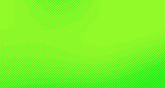 Bright green and yellow pop art retro background with halftone in comic style for sale, vector illustration eps10