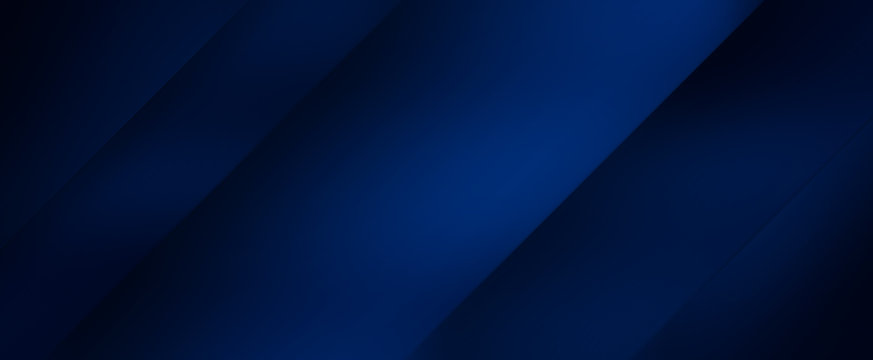 Dark blue background with abstract graphic elements.