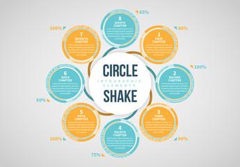 Circle Shake Infographic