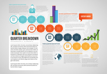Quarter Breakdown Infographic