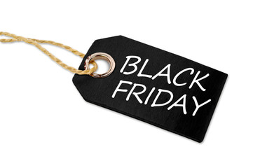 Wall Mural - Wooden hang tag with black friday and black week illustration