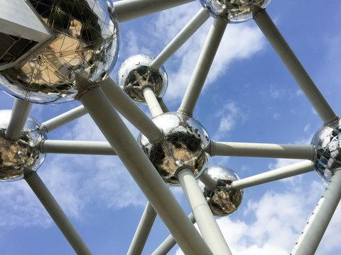 Atomium detail brussels belgium europe