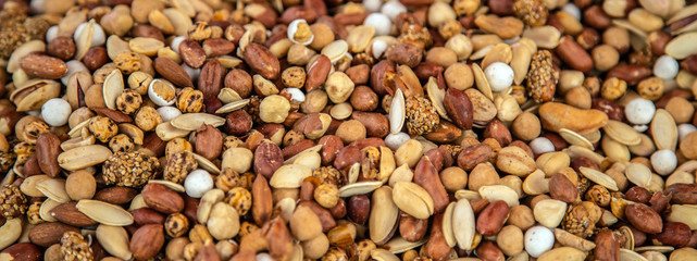 Natural background mix dry nut pistachios seed