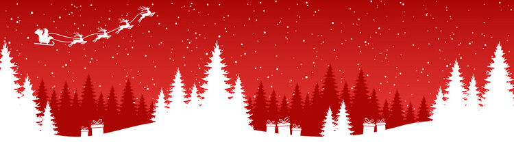 Wall Mural - simple christmas background with typical elements