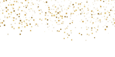 Fotorollo Künstlich seamless confetti stars background for christmas time