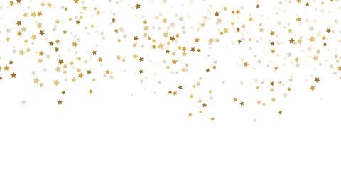 Foto auf Leinwand Künstlich seamless confetti stars background for christmas time
