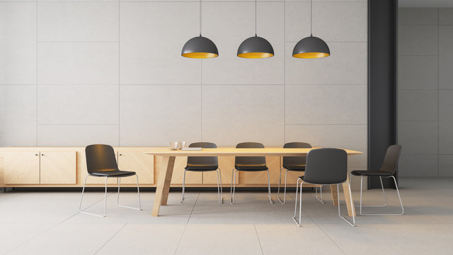 co working space - modern and loft / 3D rendering interior