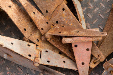 Pile of Rusty Hinges