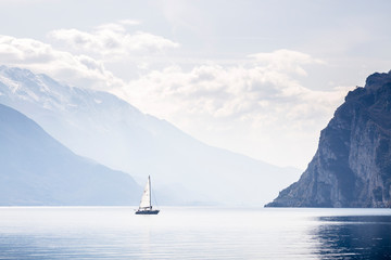 Sailboat in Lake Garda