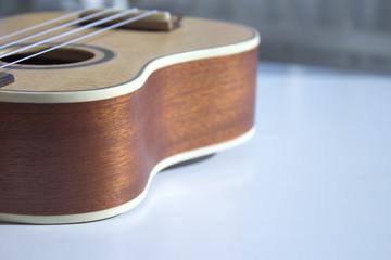 Natural wood ukulele