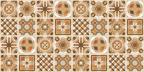 Ceramic kitchen or washroom wall tile, wallpaper & background in multi colors.