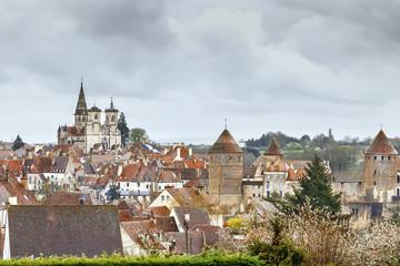 View of Semur-en-Auxois, France
