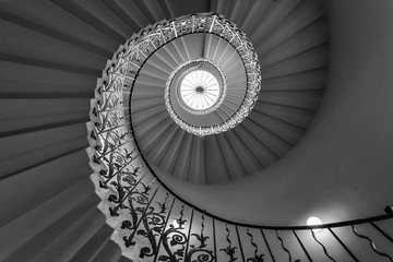 spiral staircase in building