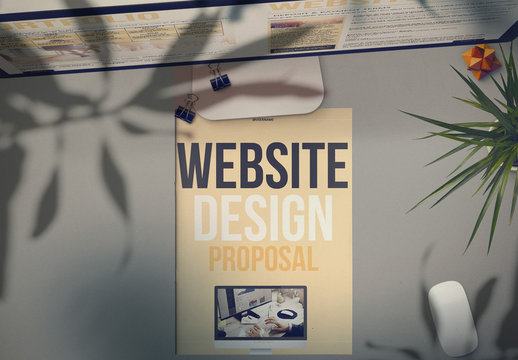 Tan Proposal Layout with Bold Text