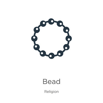 Bead icon vector. Trendy flat bead icon from religion collection isolated on white background. Vector illustration can be used for web and mobile graphic design, logo, eps10
