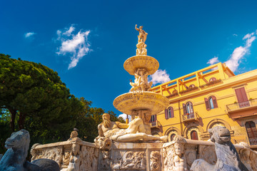 Marbles Fountain of Orion. Messina, Sicily, Italy
