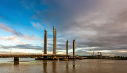 Jacques Chaban Delmas bridge on the Garonne in Bordeaux in Gironde in New Aquitaine, France
