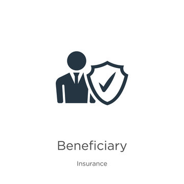 Beneficiary icon vector. Trendy flat beneficiary icon from insurance collection isolated on white background. Vector illustration can be used for web and mobile graphic design, logo, eps10