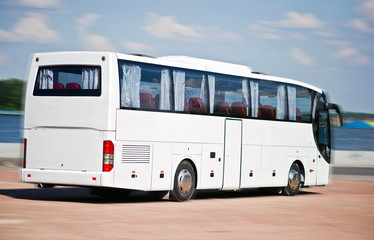 Regional bus, for transportation of people between cities and villages