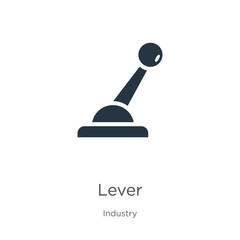 Lever icon vector. Trendy flat lever icon from industry collection isolated on white background. Vector illustration can be used for web and mobile graphic design, logo, eps10