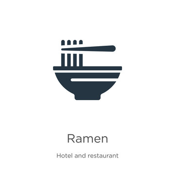 Ramen icon vector. Trendy flat ramen icon from hotel and restaurant collection isolated on white background. Vector illustration can be used for web and mobile graphic design, logo, eps10