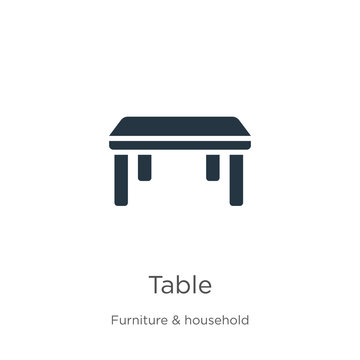 Table icon vector. Trendy flat table icon from furniture collection isolated on white background. Vector illustration can be used for web and mobile graphic design, logo, eps10