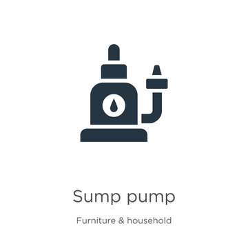 Sump pump icon vector. Trendy flat sump pump icon from furniture and household collection isolated on white background. Vector illustration can be used for web and mobile graphic design, logo, eps10