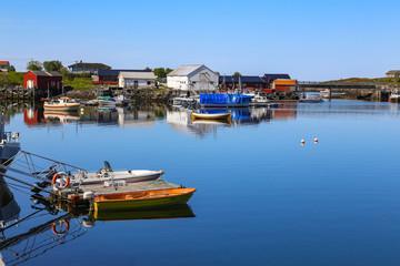 Kirkøy village on Vega island world heritage area