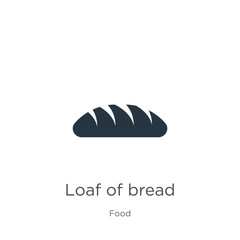 Loaf of bread icon vector. Trendy flat loaf of bread icon from food collection isolated on white background. Vector illustration can be used for web and mobile graphic design, logo, eps10