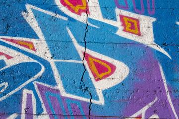 Detail of graffiti mural