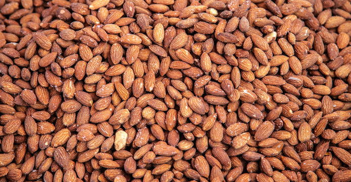 Natural background peeled nut almond