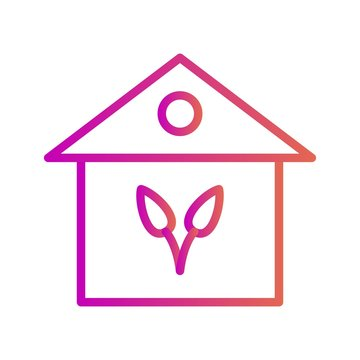 House icon isolated on abstract background