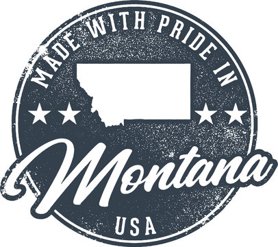 Made in Montana State Packaging Label